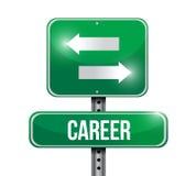 Career options road sign illustration design Stock Images