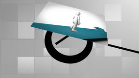 Career path montage stock footage