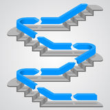 Career path stairs Stock Photography