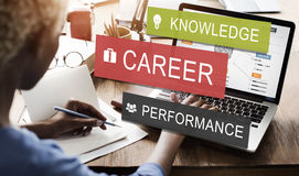 Career Performance Knowledge Word Concept Royalty Free Stock Images