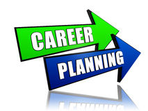 Career planning in arrows Stock Photos