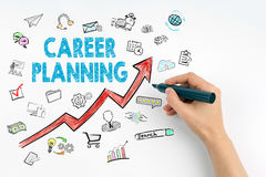 Career Planning Business Concept. Hand with marker writing Stock Image