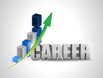 Career profits business graph illustration Stock Photo