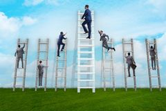 The career progression concept with various ladders. Career progression concept with various ladders Royalty Free Stock Photos