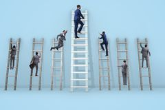 The career progression concept with various ladders. Career progression concept with various ladders Royalty Free Stock Photography