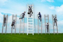 The career progression concept with various ladders. Career progression concept with various ladders Stock Images