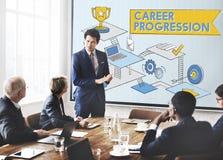 Career Progression Promotion Achievement Success Concept Stock Image