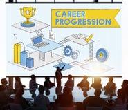 Career Progression Promotion Achievement Success Concept Stock Photo