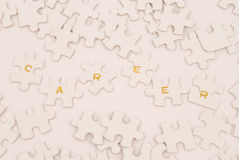 Career Puzzle. Representation of the puzzle of career management Royalty Free Stock Photo