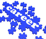 Career Puzzle Showing Job Stock Images