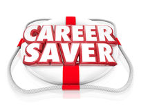Career Saver Life Preserver Career Job Rescue Royalty Free Stock Photo