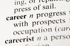 Career. Selective focus on the career taken from a dictionary Royalty Free Stock Images