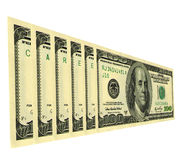 Career. Serial numbers on dollar bills draw up words Royalty Free Stock Images