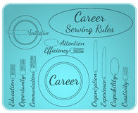 Career serving rules Stock Photography
