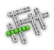Career settings. (green-white crossword series Royalty Free Illustration