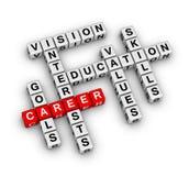 Career settings. (red-white crossword series Stock Illustration
