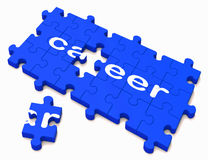 Career Sign Showing Successful Studies Stock Photo