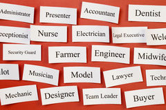 Career or Situations Vacant Concept. Career choices on a board, concept for choosing career, recruitment, situation vacant Royalty Free Stock Photos