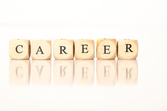 Career spelled with dice letters Royalty Free Stock Images