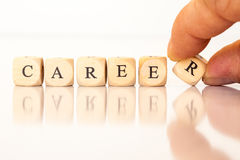 Career spelled with dice letters Stock Image