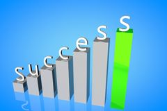 Career success 3d stock photo