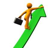 Career Success Green Arrow 2 Stock Images
