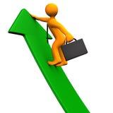 Career Success Green Arrow Stock Photography