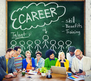 Career Talent Skill Talent Benefits Occupation Concept.  Royalty Free Stock Photos