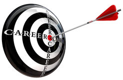 Career target conceptual image Stock Photos