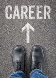 Career. Text on the floor - Career Royalty Free Stock Photography