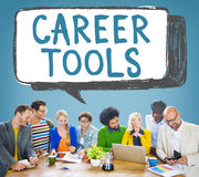 Career Tools Guidance Employment Hiring Concept Stock Image