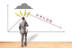 Career, value, diagram, stock exchange Royalty Free Stock Images