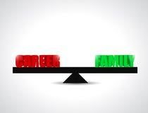 Career versus family balance illustration design Stock Image