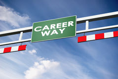 Career way direction board in way Royalty Free Stock Photos