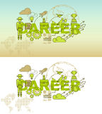 Career website banner concept with thin line flat design. Vector illustration eps-10 Royalty Free Stock Images