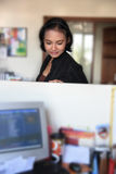 Career woman. Dreaming in office Stock Images