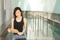 Career Woman. Asian Young Career Woman Outside an Office Stock Images