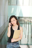 Career Woman. Asian Young Career Woman Outside an Office Royalty Free Stock Photo
