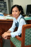 Career woman. Asian career woman in office Stock Image