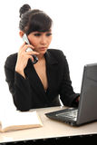 Career woman. Portrait of career woman in office Royalty Free Stock Image