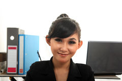 Career woman. Portrait of beautiful career woman Royalty Free Stock Image