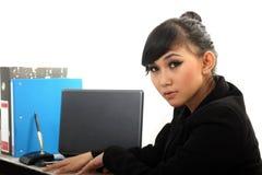 Career woman. Portrait of beautiful career woman Royalty Free Stock Photography