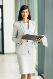 Career woman clipboard Royalty Free Stock Image
