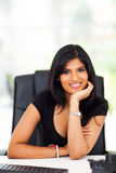Career woman office. Beautiful smart indian career woman in office Royalty Free Stock Photos