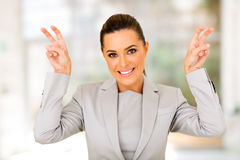 Career woman quote Stock Photography