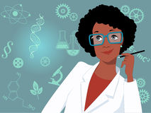 Career for women in science and technology Stock Photo