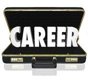Career Word Black Briefcase New Job Working Position Stock Photography