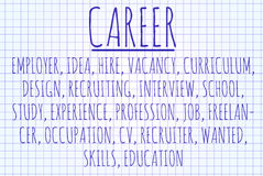 Career word cloud vector illustration