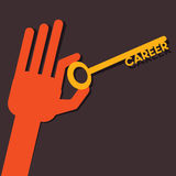 Career word key Stock Photo