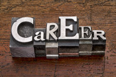 Career word in metal type Stock Images